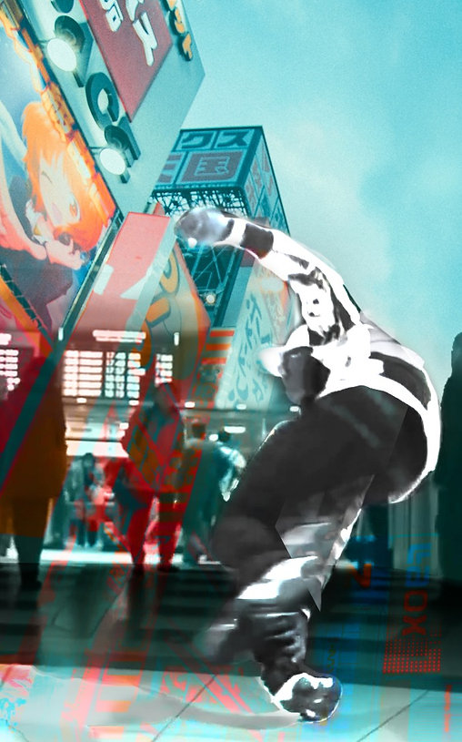 digital collage_Tokyo_LilBUck_dance_HIPH