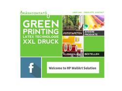 Webdesign for XXL Prints