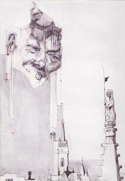 The observer(ballpoint pen-drawing)