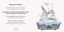 Wedding invitation card cover