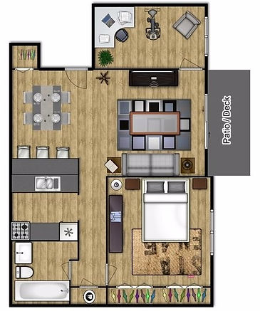 1 Bedroom, 1 Bath West Lafayette Apartment