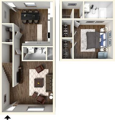 1 Bedroom, 1.5 Bath West Lafayette Apartment