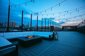 The Abbott Wedding Venue Rooftop in the Kansas City Crossroads