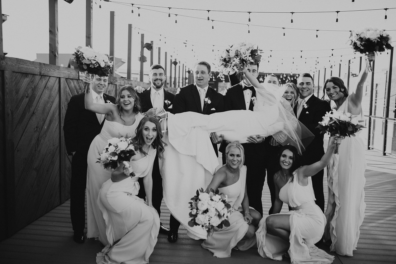 Wedding Party on The Abbott Rooftop