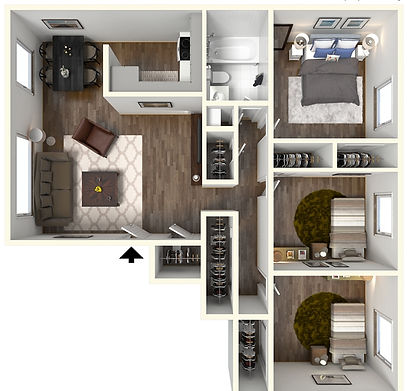 2 Bedroom, 1 Bath West Lafayette Apartment