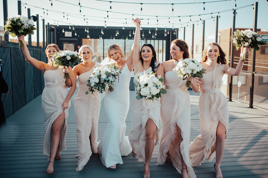 Bridal Party on The Abbott Rooftop