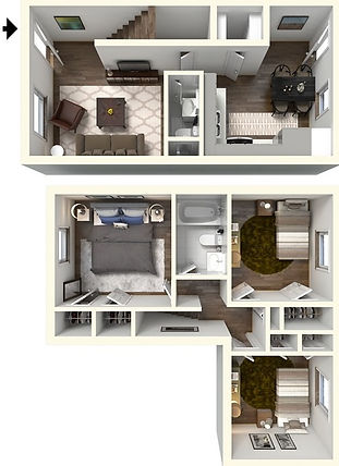 3 BR, 1.5 Bath Townhome at Univerity Crossing