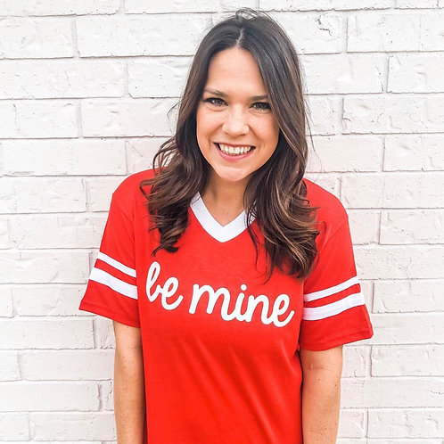 'Be Mine' Red Graphic Tee