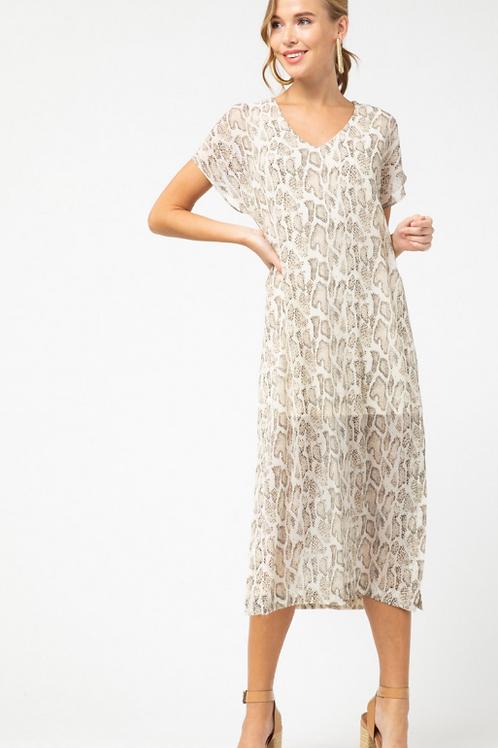 Python Print Midi Dress