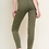 Thumbnail: Olive Animal Print Striped Pants