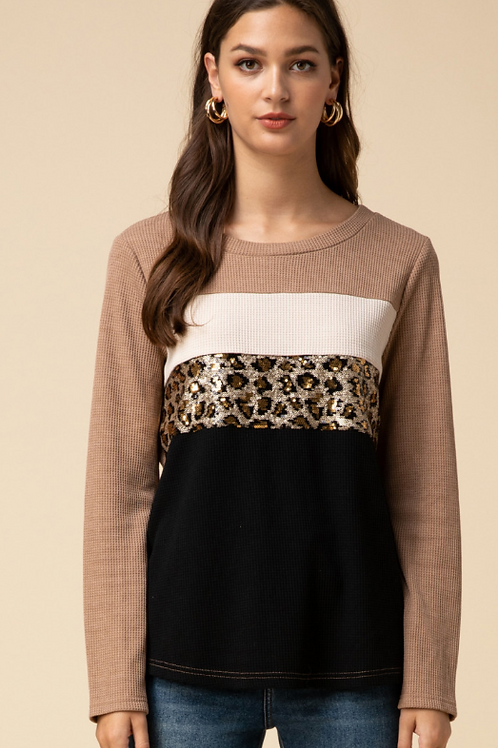 Leopard Sequin Shirt