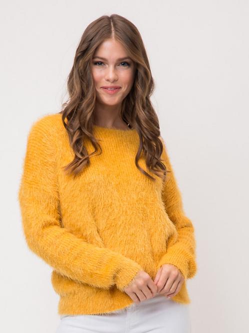 Mustard Twist Sweater
