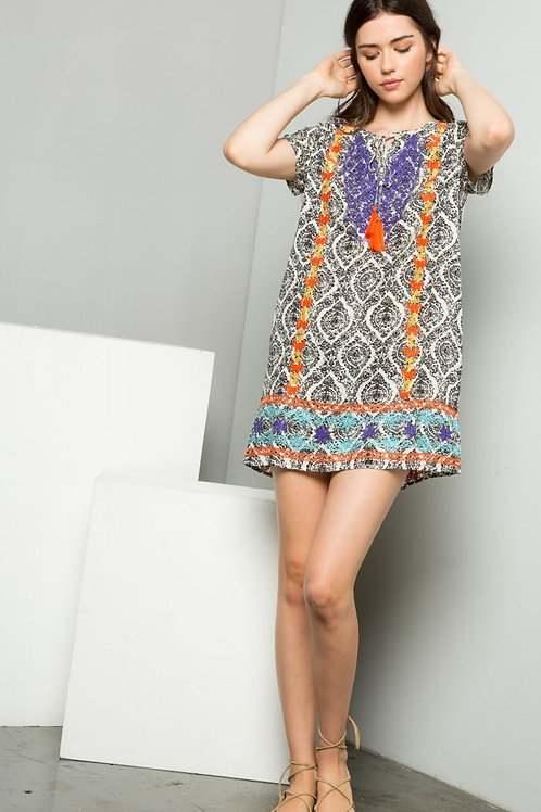 Multicolor Tassel Dress