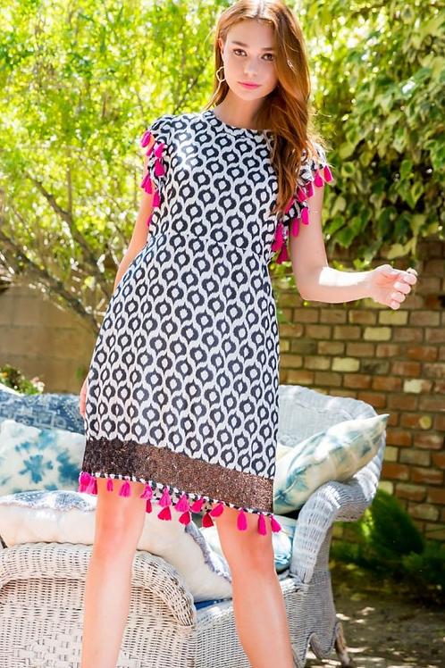 A-line Tassel Dress