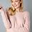 Thumbnail: Pink Twist-Back Sweater