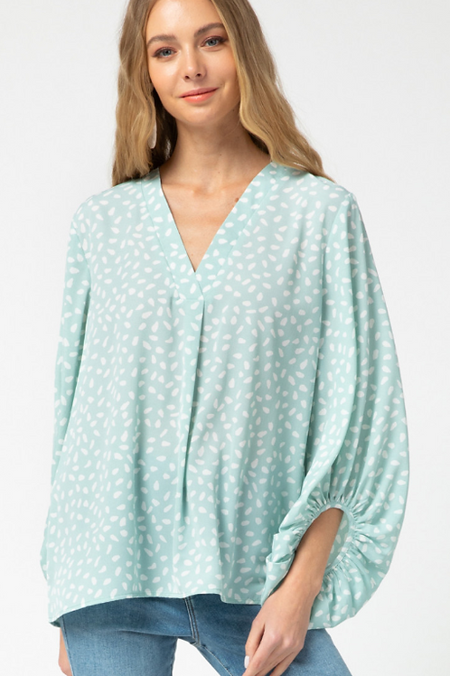 Mint V-Neck Top