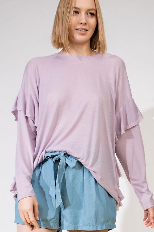 Lilac Layered Top