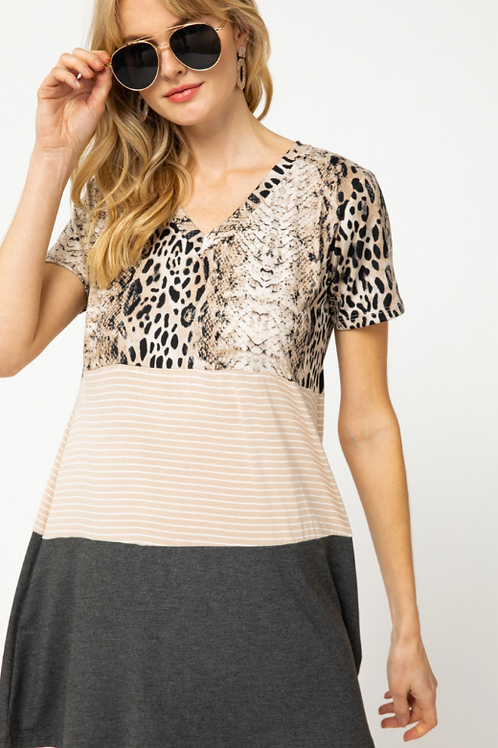 Loves Leopard T-Shirt Dress