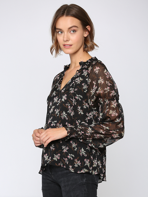 Chic Sheer Floral Top