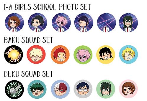 Squad Button Sets