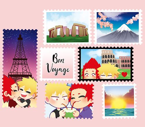 Honeymoon Stamp Washi