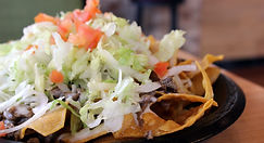 Don Taco Mexican Grill Restaurant nachos on plate