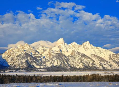 A Winter Dawn at the Grand Tetons
