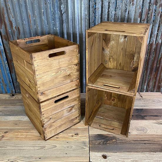 Braune Holzkiste für Kallax/Expedit-Regale | 33x37,5x32,5cm