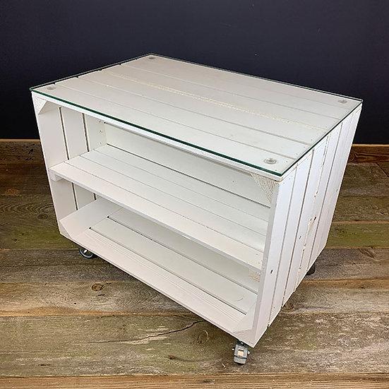 """Neuer weißer Rolltisch """"LUIGI"""" 60x40x47cm"""