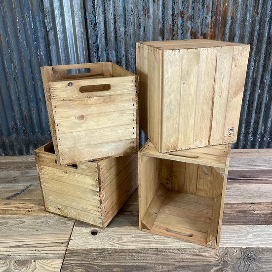 Natur Helle Holzkiste für Kallax/Expedit-Regale | 33x37,5x32,5cm