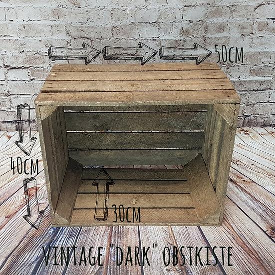 """Dunkele Vintage Holzkiste """"Kreuzberg"""" ca.50x40x30cm"""