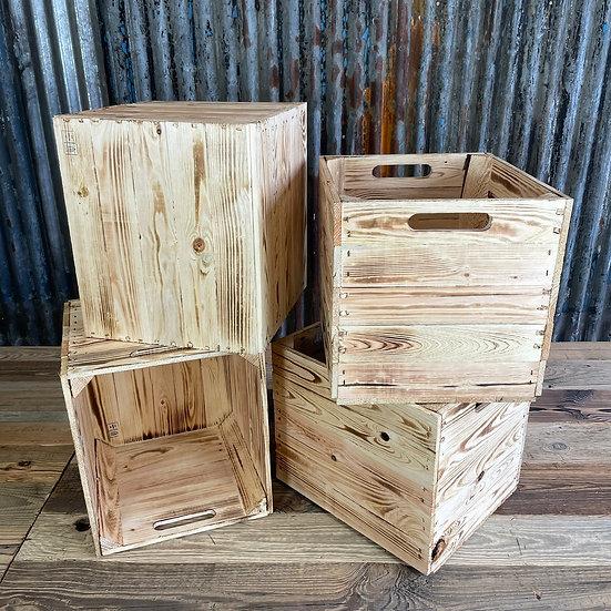 Geflammte Holzkiste für Kallax/Expedit-Regale | 33x37,5x32,5cm