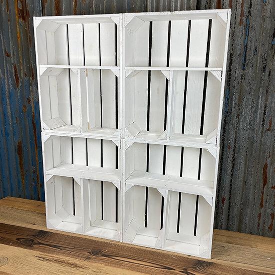 4er Set Neue Weiße Regalkiste| T-Form | 50x40x15cm