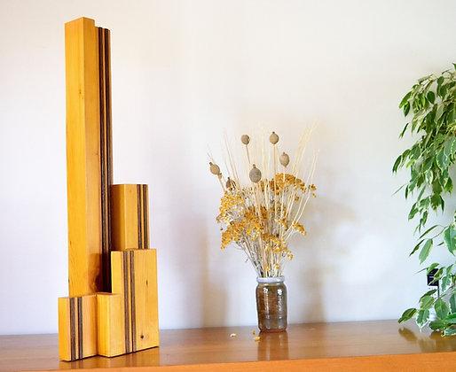 Iprea: lampe en pin massif verni