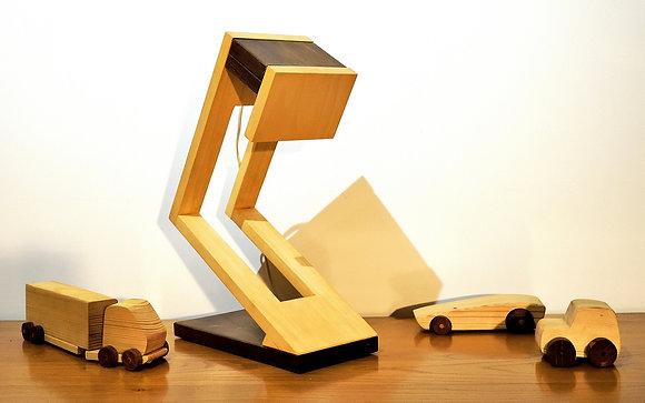 Munilo: lampe de table ou de bureau, en bois