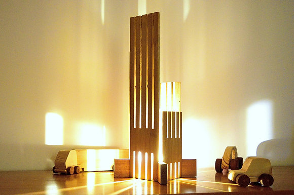 Ebrino: lampe en Bambou et Sipo