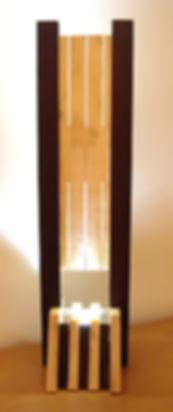 lampe à poser en bois, design