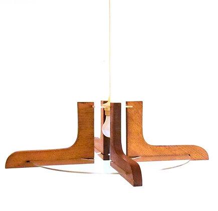 plafonnier en bois massif avec plexiglas transparent