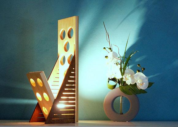 Halito: lampe design en bois massif