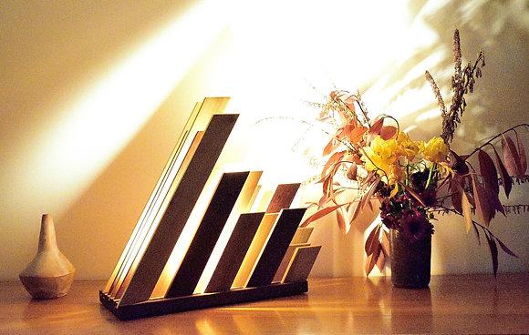 Waliba: lampe design, en bois massif