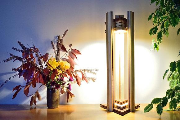 Yambola: lampe de luxe, fait main, bois massif