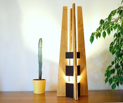 Betula: lampe  haut de gamme en bambou massif