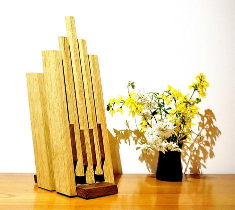 Betaro: lampe à poser,design, en bois massif