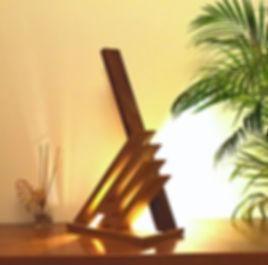 lampe led,design,en bois massif