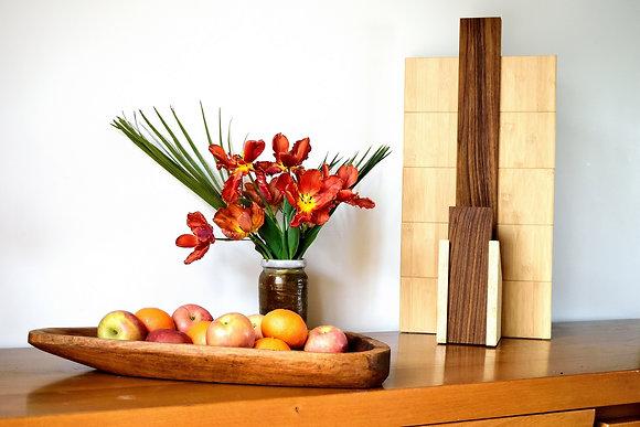 Praniba: lampe modulable en Teck et Bambou