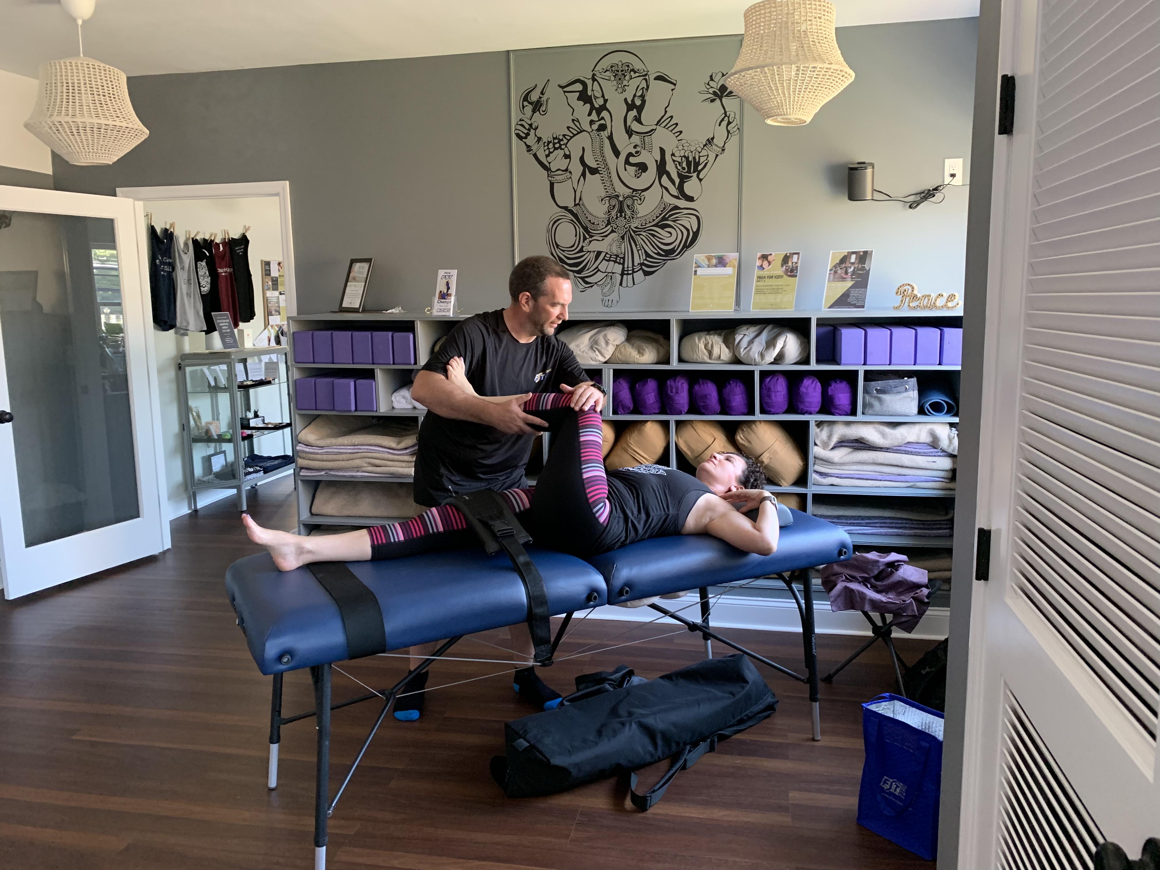 Jan Demonstrates Fascial Stretch
