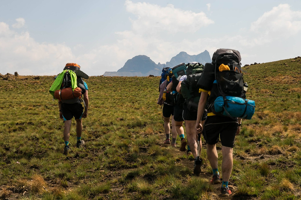 Know the health and fitness levels of your group before you hike (Pic: Highmoor, Drakensberg, Alex Weiss)
