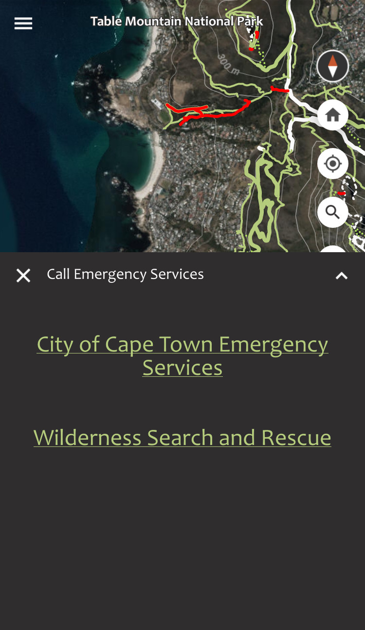 Forge offers in-app emergency call functionality.