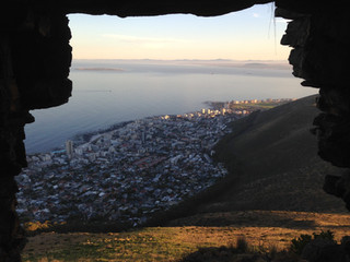 Looking over Sea Point and Fresnaye from Lion's Head.