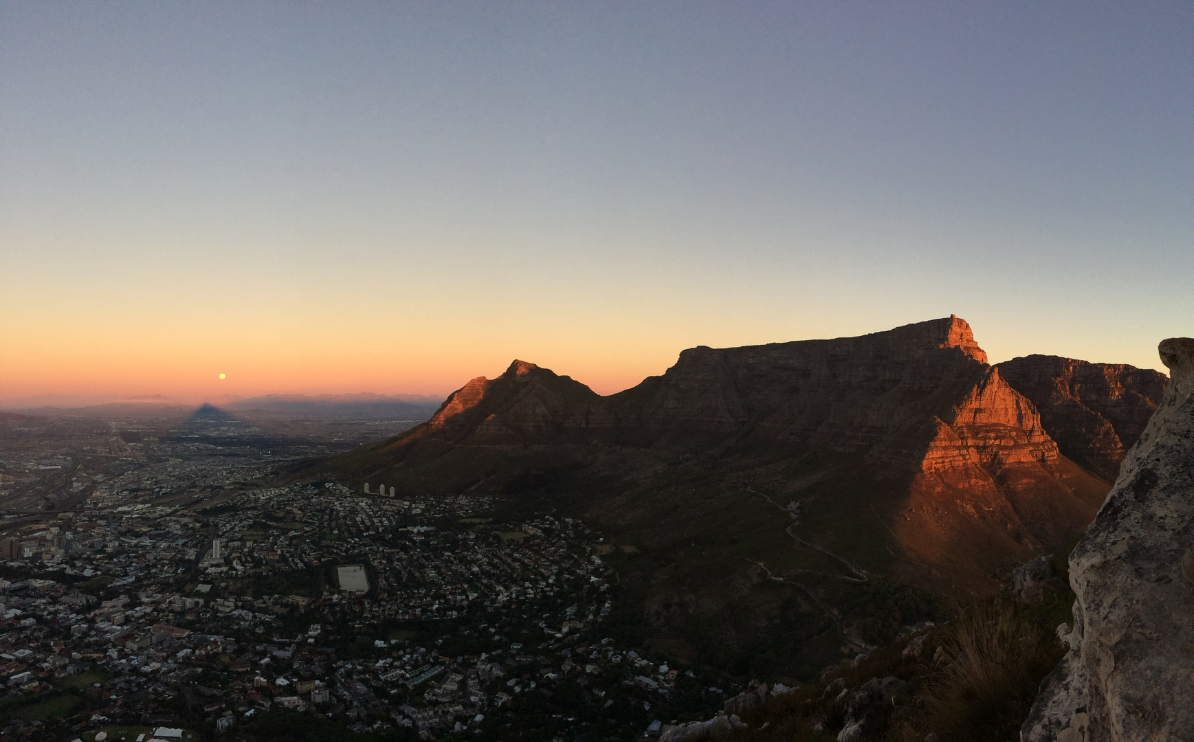 Sunset over Table Mountain.